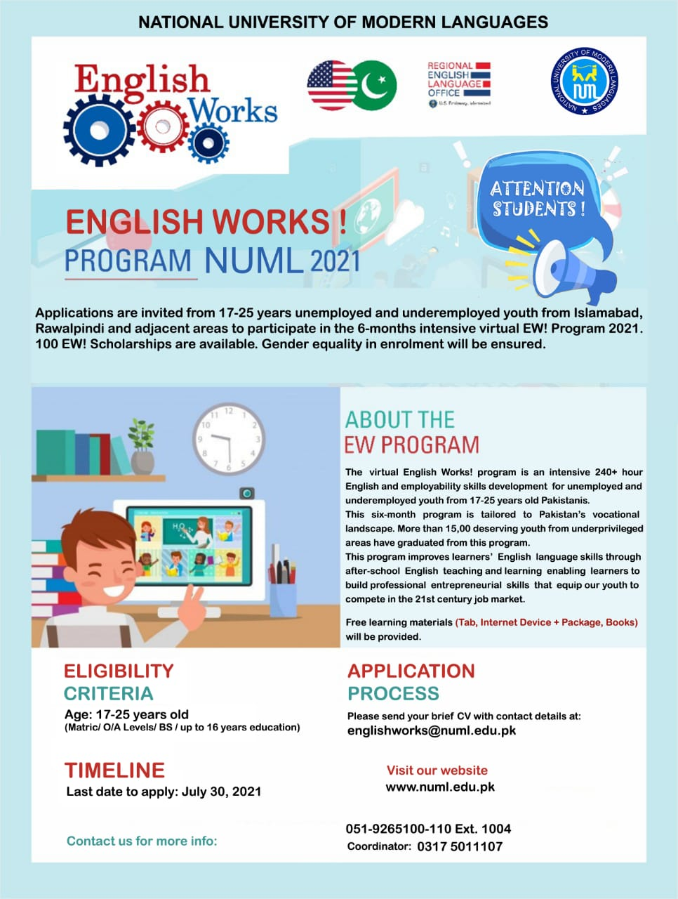 English Works Program NUML 2021