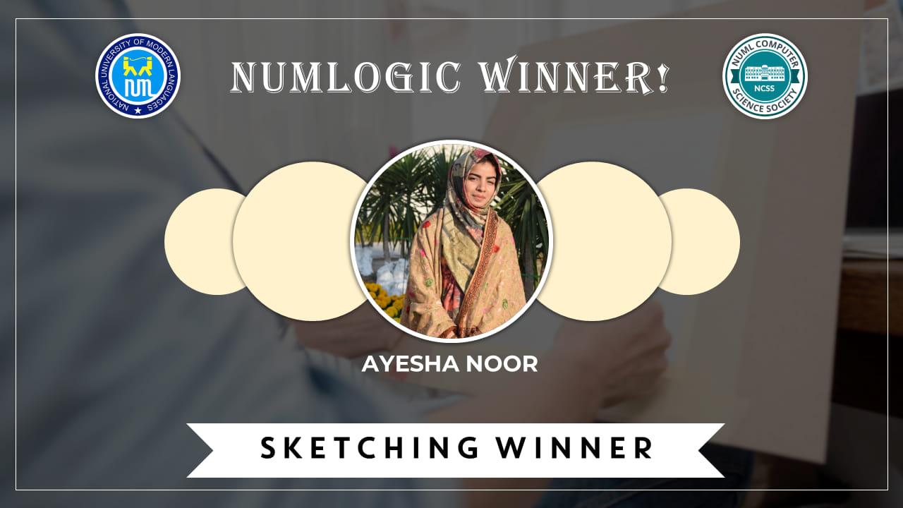 Winner of 'Sketching' for NUMLogic 2019