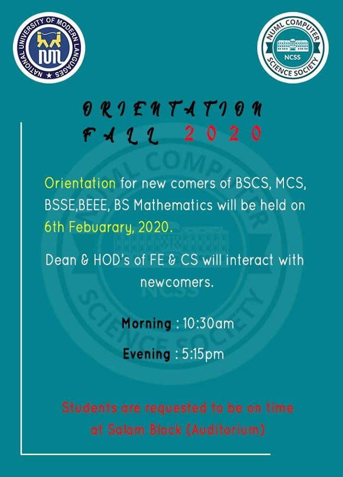 Orientation of CS Students