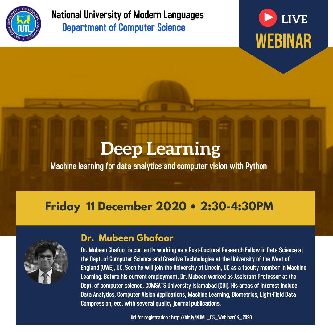 Webinar - Deep Learning