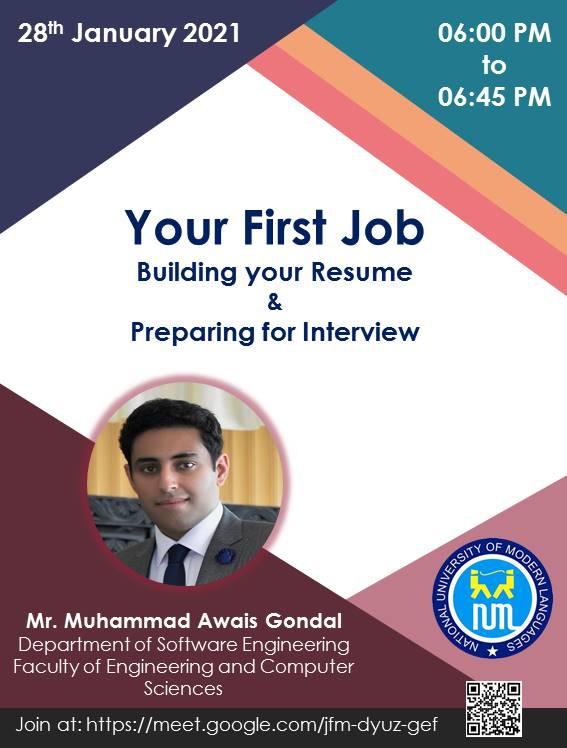 Your First Job: Build your resume & Preparing for interview