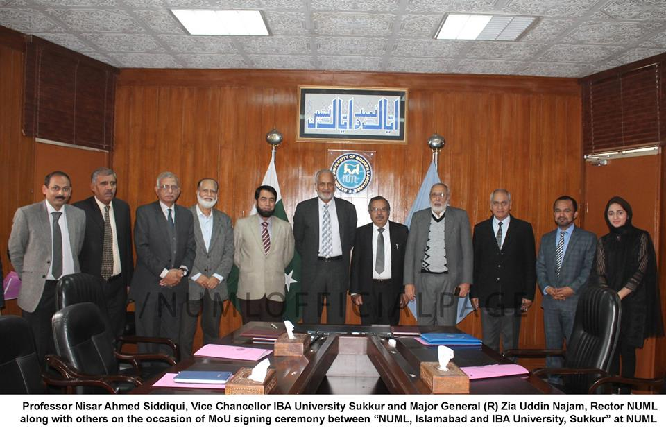 NUML & IBA ink MOU for research promotions